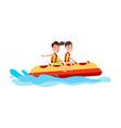 banana boat summer activity vector image vector image