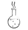 beaker test tube glass laboratory science vector image