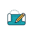 blueprint and pencil work tools engineering icon vector image vector image