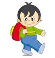 boy school vector image vector image