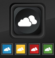 clouds icon symbol Set of five colorful stylish vector image vector image