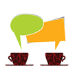 coffee cup with message note vector image vector image