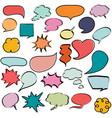 colorful comic speech bubbles dialogs vector image vector image