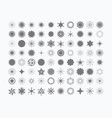 complete set of 80 stars rays signs and symbols vector image