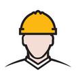 contractor icon vector image