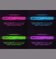 core glowing neon futuristic font typeface vector image vector image