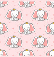 cute elephant seamless pattern background vector image vector image