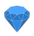 diamond shape in 3d and blue shades geometric