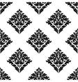 Diamond shaped floral seamless motif vector image vector image