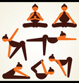 different yoga pose stock vector image vector image