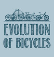 evolution of transport poster vector image vector image