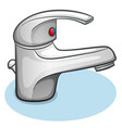 faucet on white background vector image