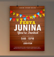 festa junina party invitation poster flyer design vector image vector image