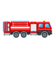 fire engine flat design isolated object on white vector image vector image