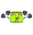 fitness character style short pant for hangout vector image