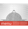food tray menu template vector image vector image