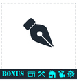 Fountain pen icon flat