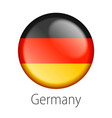 germany round button flag vector image vector image