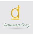 Golden Symbol of Vietnamese Dong vector image vector image