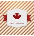 Happy Canada Day striped Background Template vector image