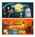 Happy Halloween decoration banners vector image
