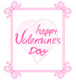 happy valentines day pink on vector image