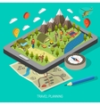 Hiking And Camping Design Concept vector image vector image