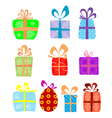 Holiday gifts vector image vector image