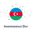 independence day of azerbaijan patriotic banner vector image