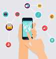 Internet of Things concept Business icons Hand vector image vector image