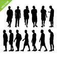 Men silhouettes vector image vector image