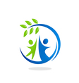 nature ecology people friendly logo vector image vector image