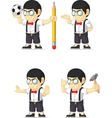 Nerd Boy Customizable Mascot 5 vector image vector image