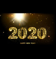 new year 2020 composition with fireworks vector image