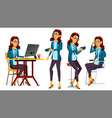 office worker woman successful officer vector image vector image