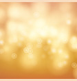orange bokeh background abstract warm blur vector image vector image