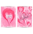 Page with a heart and the word love For posters vector image vector image
