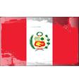 Peru national flag vector image vector image
