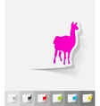 realistic design element lama vector image vector image