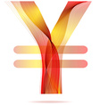 Red abstract Yen sign vector image vector image