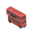 red double decker bus isometric 3d element vector image