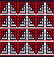 red tribal triangle seamless pattern vector image vector image