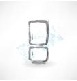 refrigerator grunge icon vector image vector image