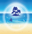 sand beach and small island vector image