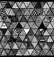 seamless pattern of equilateral triangles vector image
