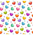 seamless pattern with colorful glossy hearts vector image vector image