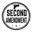 second amendment sign or stamp vector image