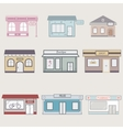 Set of cute buildings for infographics vector image vector image