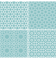 Set of geometric patterns in arabic style vector image