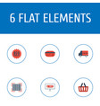 set of store icons flat style symbols with vector image
